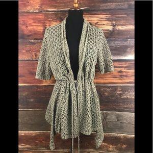 BCBG Maxazria Crochet Knit Cardigan Cover Up $180